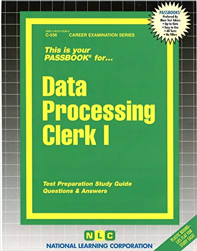 9780837305363: Data Processing Clerk I(Passbooks) (Passbook for Career Opportunities)