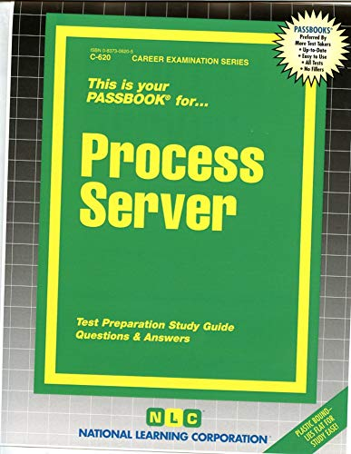 9780837306209: Process Server(Passbooks) (Career Examination Series)