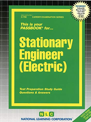 9780837307596: Stationary Engineer (Electric)(Passbooks) (Career Examination Ser, : C-759)