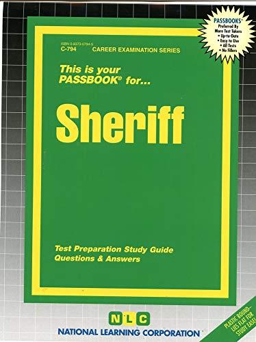 9780837307947: Sheriff(Passbooks) (Career Examination Series)