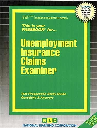 9780837308517: Unemployment Insurance Claims Examiner(Passbooks) (Career Examination Series : C 851)