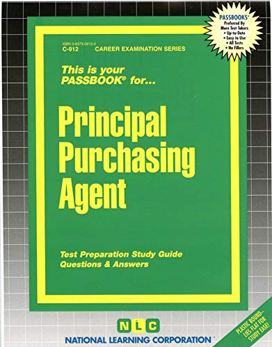 9780837309125: Principal Purchasing Agent(Passbooks)