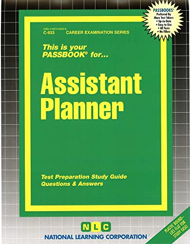 9780837309330: Assistant Planner(Passbooks) (Career Examination Series C-933)