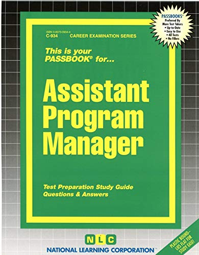9780837309347: Assistant Program Manager(Passbooks)