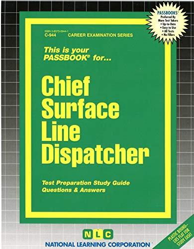 9780837309446: Chief Surface Line Dispatcher(Passbooks)