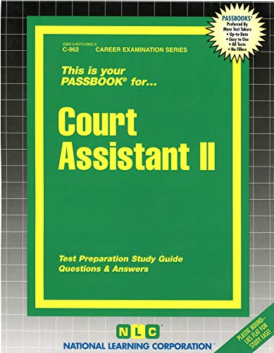 Court Assistant II: National Learning Corporation