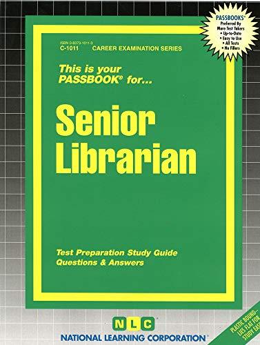 9780837310114: Senior Librarian(Passbooks) (Passbook Series. Passbooks for Civil Service Examinations)