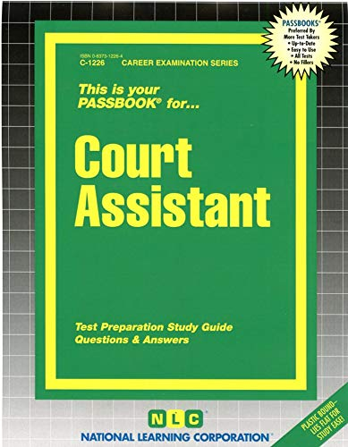 Court Assistant : Test Preparation Study Guide,: National Learning Corporation