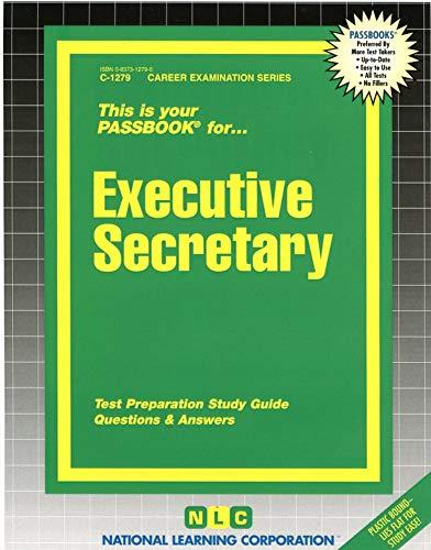 Executive Secretary (Passbook for Career Opportunities): Jack Rudman