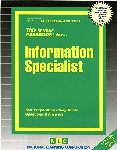 9780837313160: Information Specialist(Passbooks)