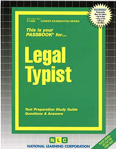 9780837313283: Legal Typist(Passbooks) (Career Examination Passbook)