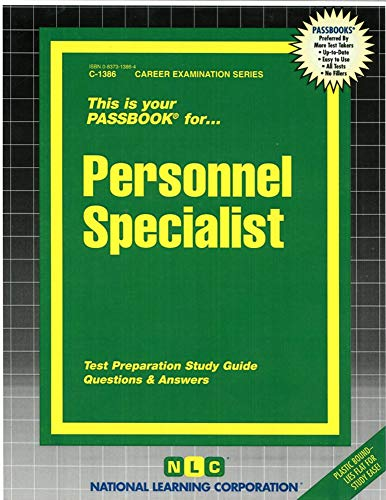 9780837313863: Personnel Specialist(Passbooks) (Career Examination Series)