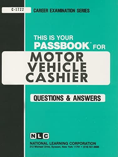 9780837317229: Motor Vehicle Cashier(Passbooks) (Career Examination Passbooks)