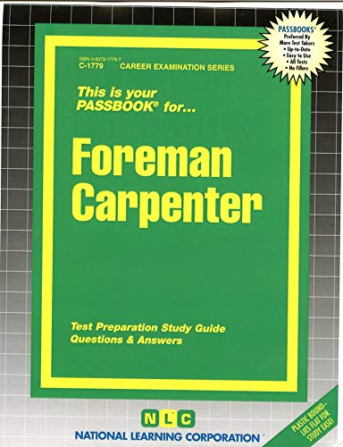 9780837317793: Foreman Carpenter(Passbooks) (Career Examination, C-1779)