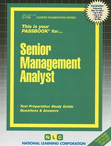 9780837317823: Senior Management Analyst(Passbooks) (Career Examination Passbooks)