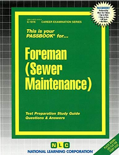 9780837318165: Foreman (Sewer Maintenance)(Passbooks) (C-1816)