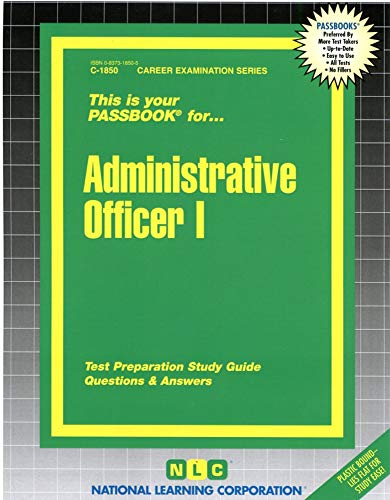 9780837318509: Administrative Officer I(Passbooks)