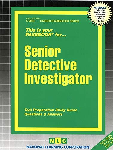 9780837320380: Senior Detective Investigator(Passbooks) (Career Examination Series, C-2038)
