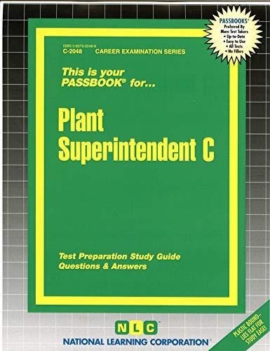 9780837320489: Plant Superintendent C