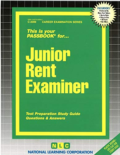 9780837320991: Junior Rent Examiner(Passbooks) (Passbook Series. Passbooks for Civil Service Examinations)