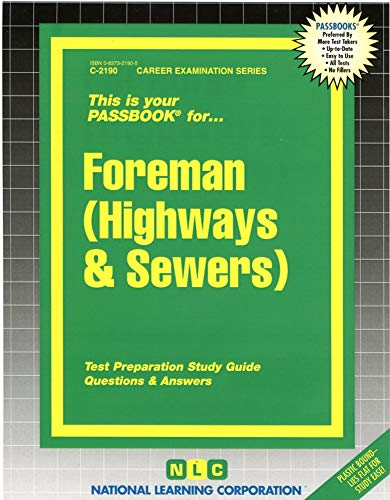 9780837321905: Foreman (Highways & Sewers)(Passbooks) (Highways and Sewers)