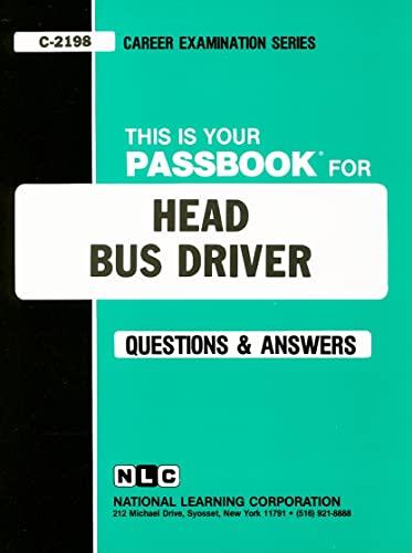 9780837321981: Head Bus Driver(Passbooks) (Career Examination Passbooks)