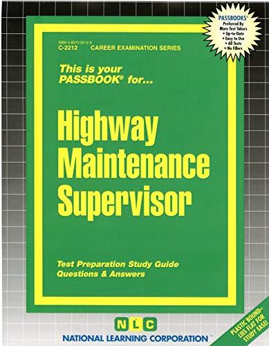 9780837322124: Highway Maintenance Supervisor(Passbooks) (Passbook Series)