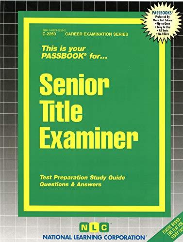 9780837322506: Senior Title Examiner(Passbooks)