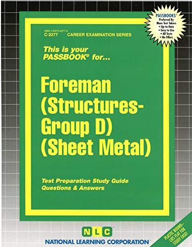 9780837322773: Foreman (Structures-Group D) (Sheet Metal)(Passbooks)