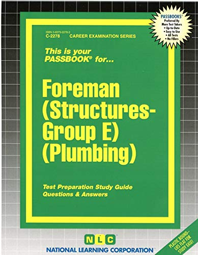 9780837322780: Foreman (Structures-Group E) (Plumbing)(Passbooks)