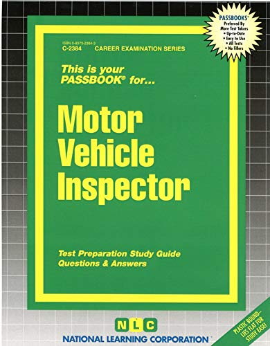 9780837323848: Motor Vehicle Inspector(Passbooks) (Career Examination Series)