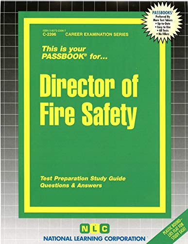 9780837323961: Director of Fire Safety(Passbooks) (Career Examination Passbooks)