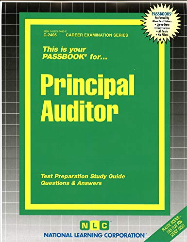 9780837324050: Principal Auditor(Passbooks) (Career Exam. Ser. : C-2405)