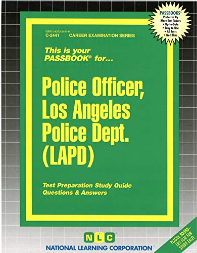 9780837324418: Police Officer, Los Angeles Police Dept. (LAPD)(Passbooks) (Los Angeles Police Department #c-2441)