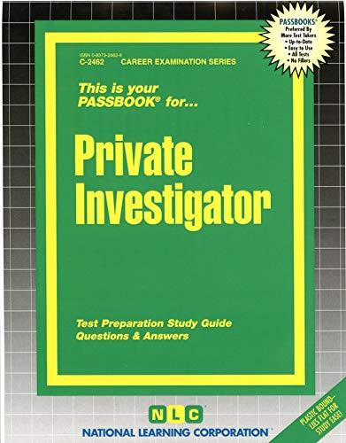 9780837324623: Private Investigator(Passbooks) (Career Examination Series)