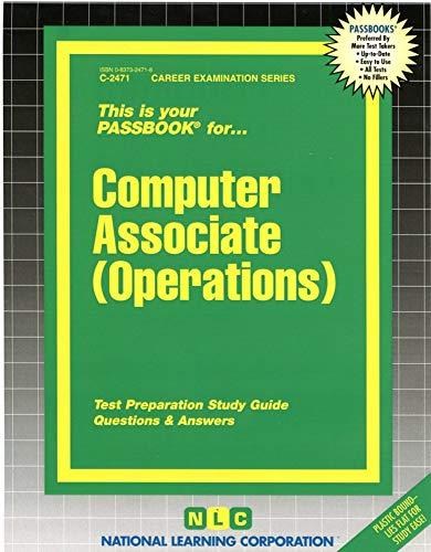 9780837324715: Computer Associate (Operations)(Passbooks)