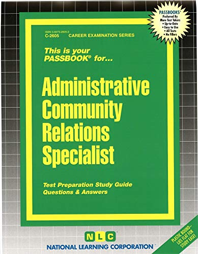 9780837326054: Administrative Community Relations Specialist(Passbooks)