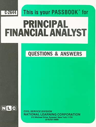 Principal Financial Analyst (Career Examination Passbooks): Jack Rudman