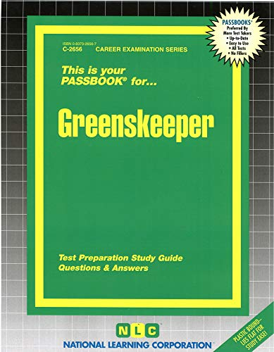 9780837326566: Greenskeeper(Passbooks) (Career Examination Series : C-2656)