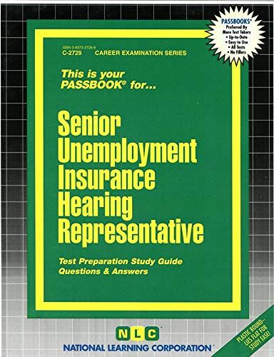 9780837327297: Senior Unemployment Insurance Hearing Representative(Passbooks)
