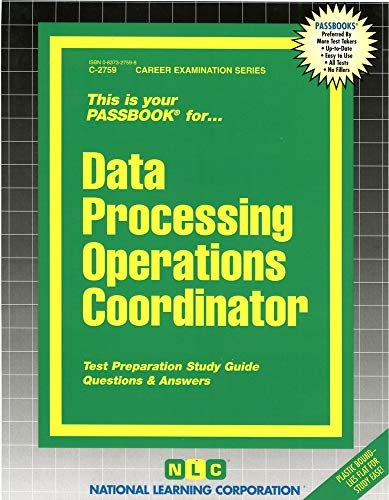 9780837327594: Data Processing Operations Coordinator(Passbooks)