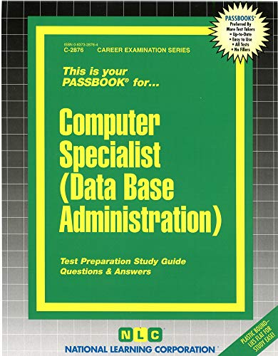9780837328768: Computer Specialist (Data Base Administration)(Passbooks) (Career Examination Series)