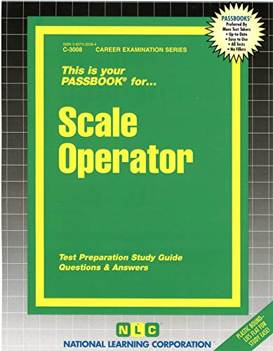 9780837330082: Scale Operator(Passbooks) (Career Examination Series)