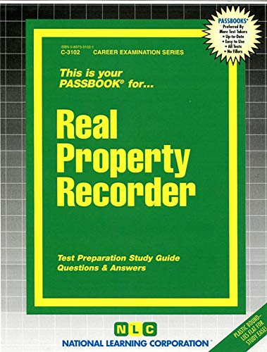 Real Property Recorder (C-3102): Jack Rudman