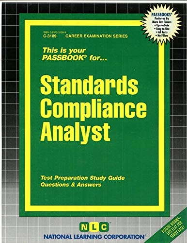 9780837331096: Standards Compliance Analyst(Passbooks)