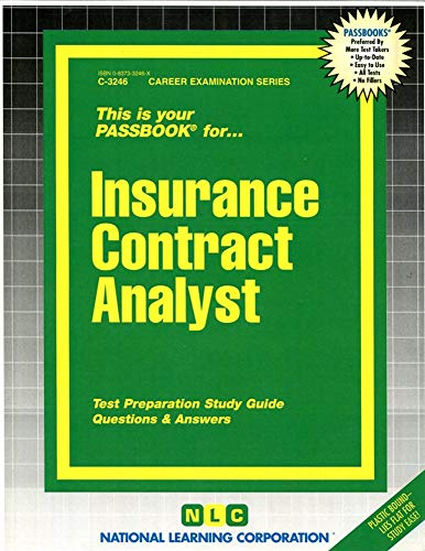 9780837332468: Insurance Contract Analyst(Passbooks)