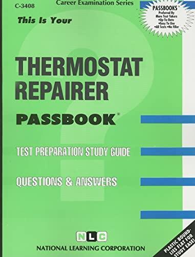 9780837334080: Thermostat Repairer(Passbooks) (Career Examination Passbooks)