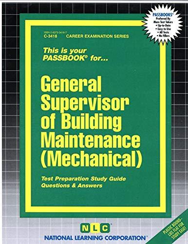 9780837334189: General Supervisor of Building Maintenance (Mechanical)(Passbooks)
