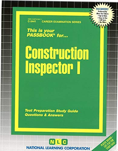 9780837334417: Construction Inspector I(Passbooks) (Career Examination Passbooks)
