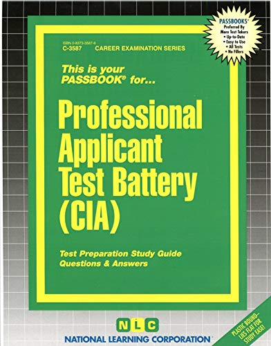 9780837335872: Professional Applicant Test Battery (CIA)(Passbooks)